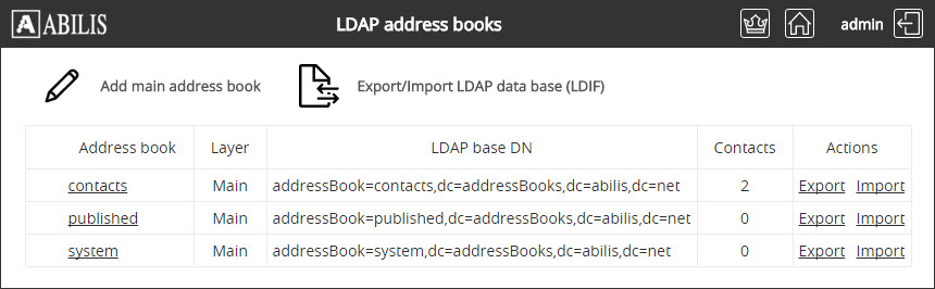 Ldap Address Books